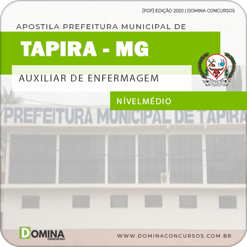 Apostila Pref Tapira MG 2020 Auxiliar de Enfermagem