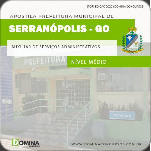Apostila Serranópolis GO 2020 Auxiliar Serviços Administrativo