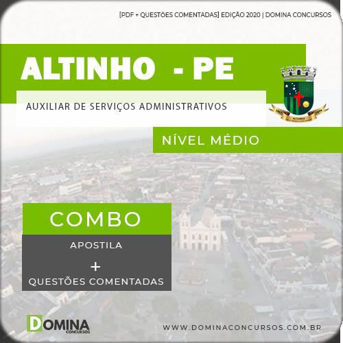Apostila Altinho PE 2020 Auxiliar de Serviços Administrativos
