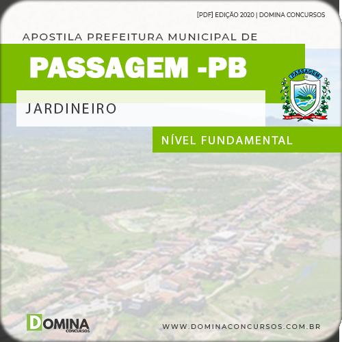 Apostila Concurso Prefeitura Passagem PB 2020 Jardineiro