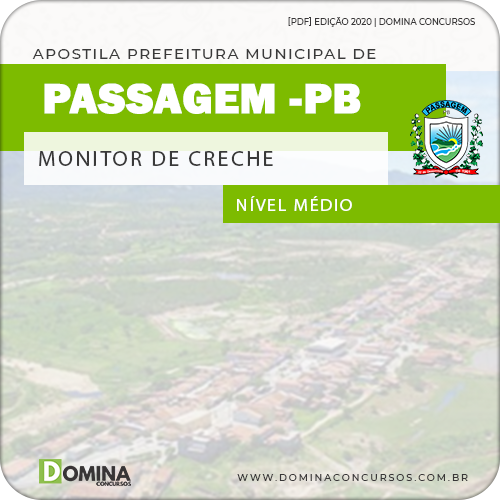 Apostila Concurso Pref Passagem PB 2020 Monitor de Creche