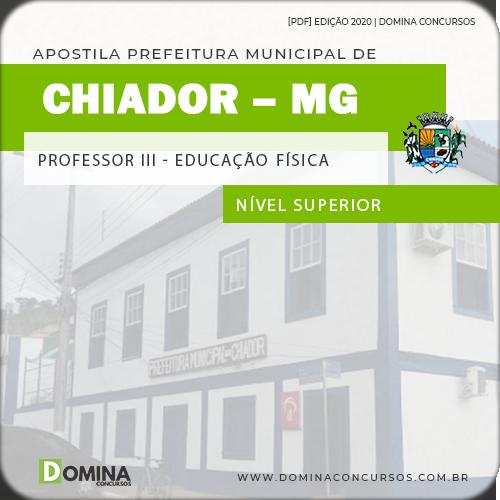 Apostila Concurso Chiador MG 2020 Professor III Educação Física