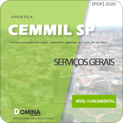 Apostila Cemmil Mogi Guaçu SP 2020 Serviços Gerais