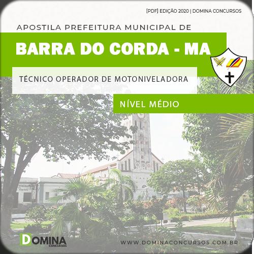 Apostila Pref Barra Corda MA 2020 Técnico Operador Motoniveladora
