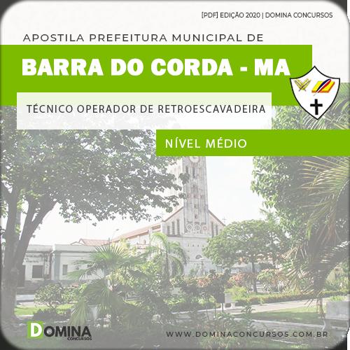 Apostila Pref Barra Corda MA 2020 Técnico Operador Retroescavadeira