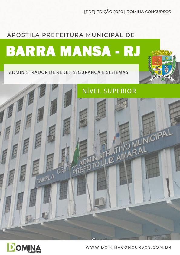 Apostila Barra Mansa RJ 2020 Administrador Redes Segurança