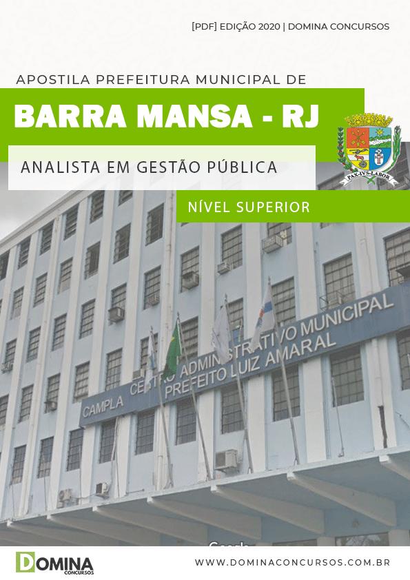 Apostila Barra Mansa RJ 2020 Analista em Gestão Pública