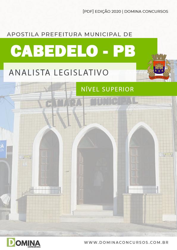 Apostila Câmara Cabedelo PB 2020 Analista Legislativo