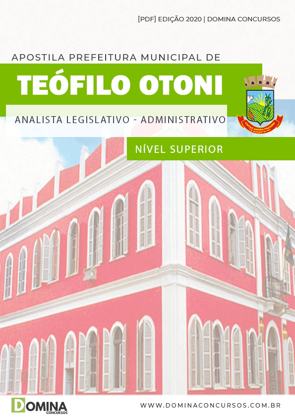 Apostila Teófilo Otoni 2020 Analista Legislativo Administrativo