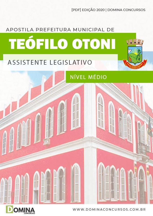 Apostila Câmara Teófilo Otoni 2020 Assistente Legislativo