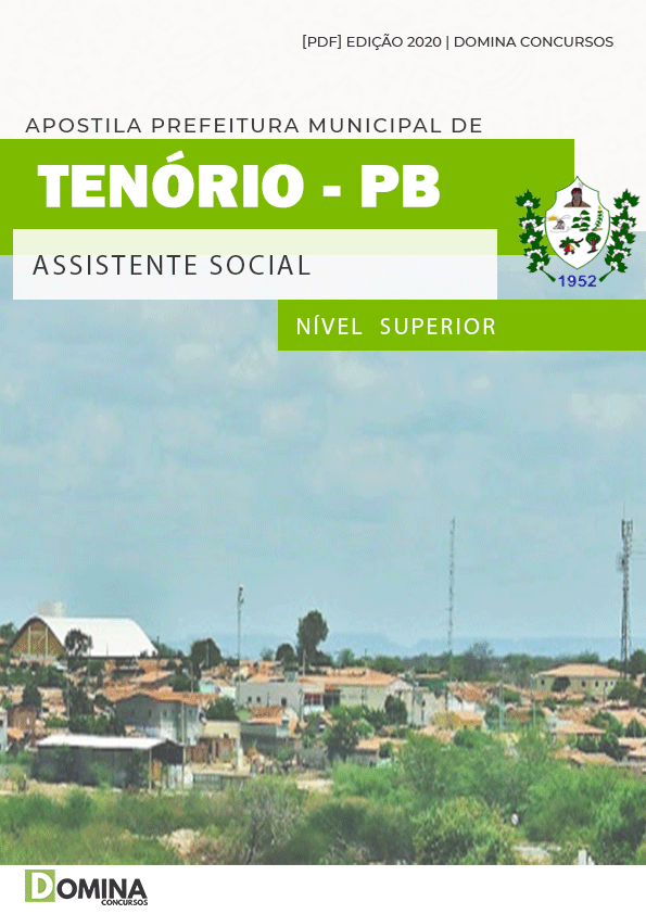 Apostila Concurso Pref Tenório PB 2020 Assistente Social