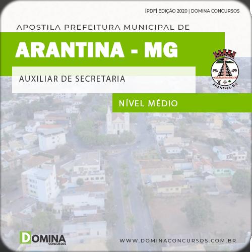 Apostila Câmara Arantina MG 2020 Auxiliar de Secretaria