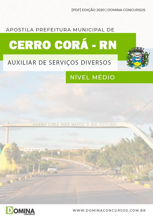 Apostila Câmara Cerro Corá RN 2020 Aux Serviços Diversos
