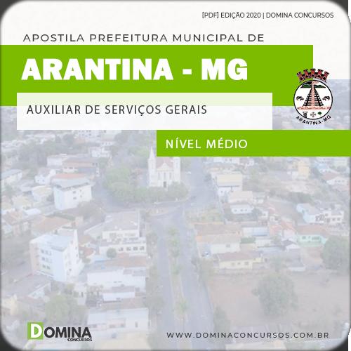 Apostila Câmara Arantina MG 2020 Auxiliar Serviços Gerais