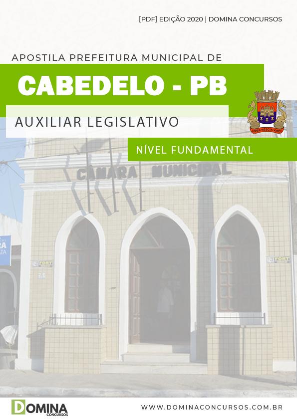 Apostila Tabela Cabedelo PB 2020 Auxiliar Legislativo