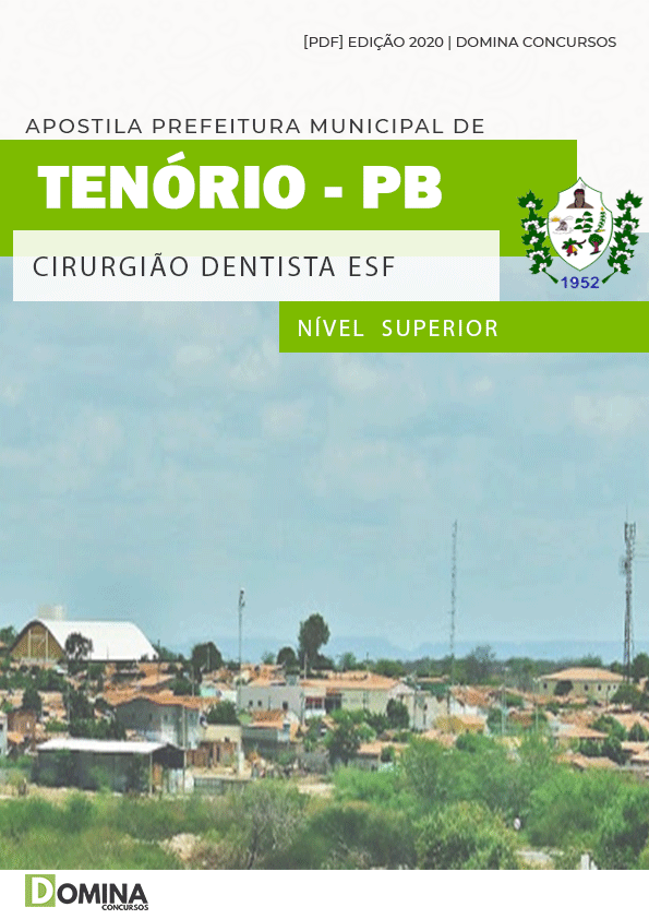 Apostila Concurso Pref Tenório PB 2020 Cirurgião Dentista ESF