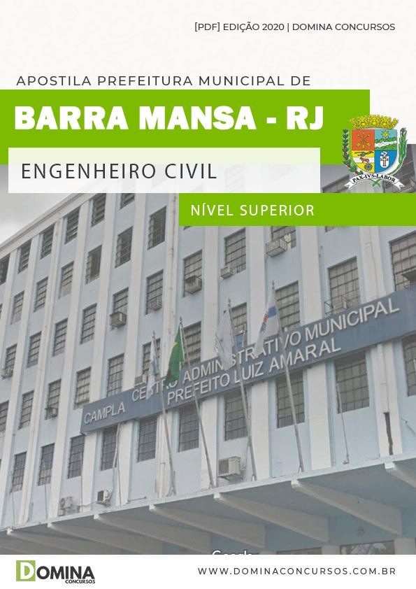 Apostila Concurso Barra Mansa RJ 2020 Engenheiro Civil