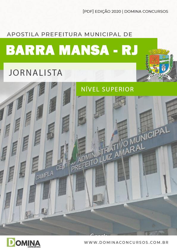Apostila Concurso Prefeitura Barra Mansa RJ 2020 Jornalista