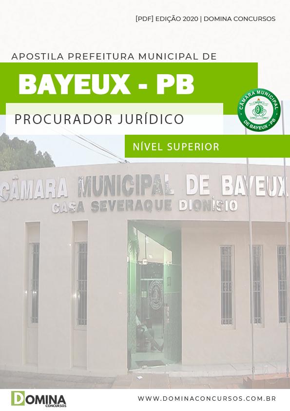 Apostila Câmara Bayeux PB 2020 Procurador Jurídico