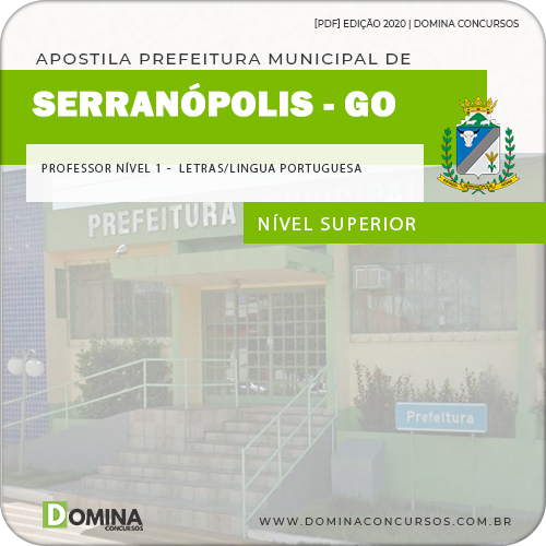 Apostila Serranópolis GO 2020 Professor Nível I Letras