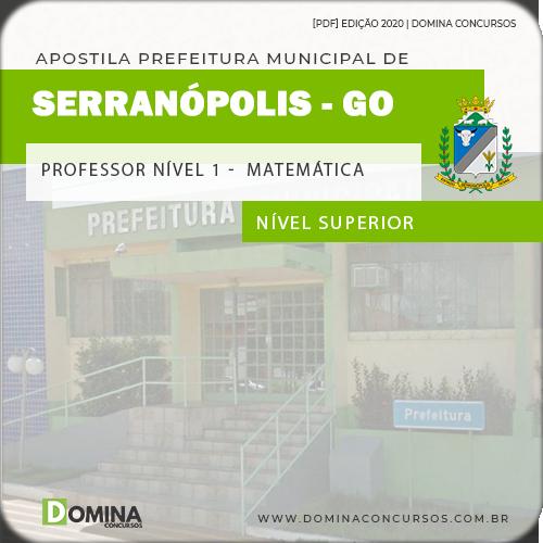 Apostila Serranópolis GO 2020 Professor Nível I Matemática