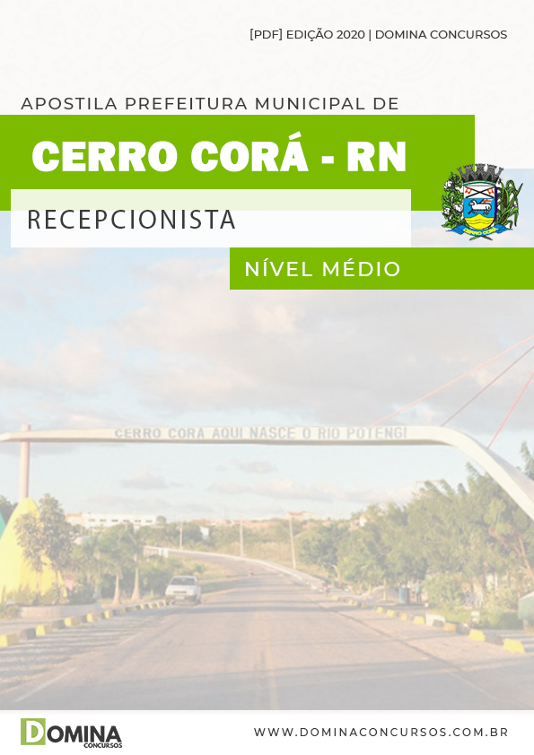 Apostila Câmara Cerro Corá RN 2020 Recepcionista