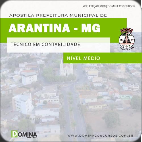 Apostila Câmara Arantina MG 2020 Técnico em Contabilidade
