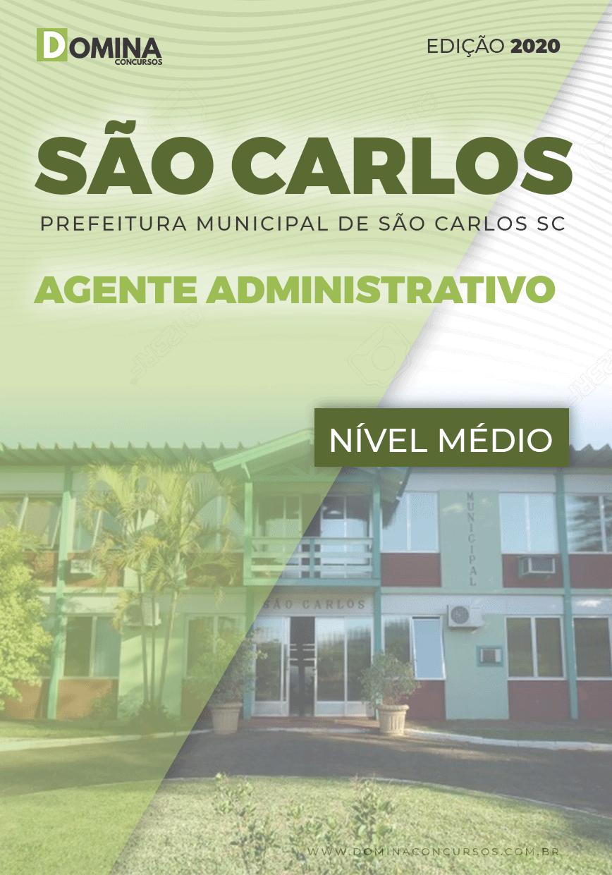 Apostila Pref São Carlos SC 2020 Agente Administrativo
