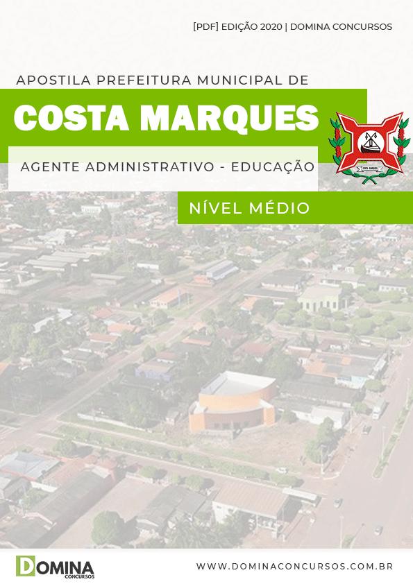 Apostila Costa Marques 2020 Agente Administrativo Educação