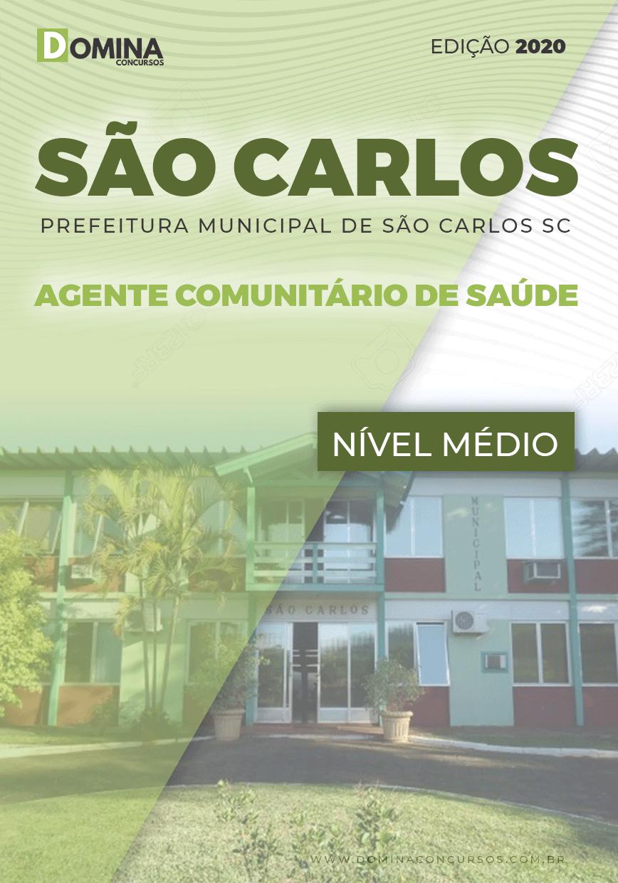 Apostila Pref São Carlos SC 2020 Agente Comunitário Saúde