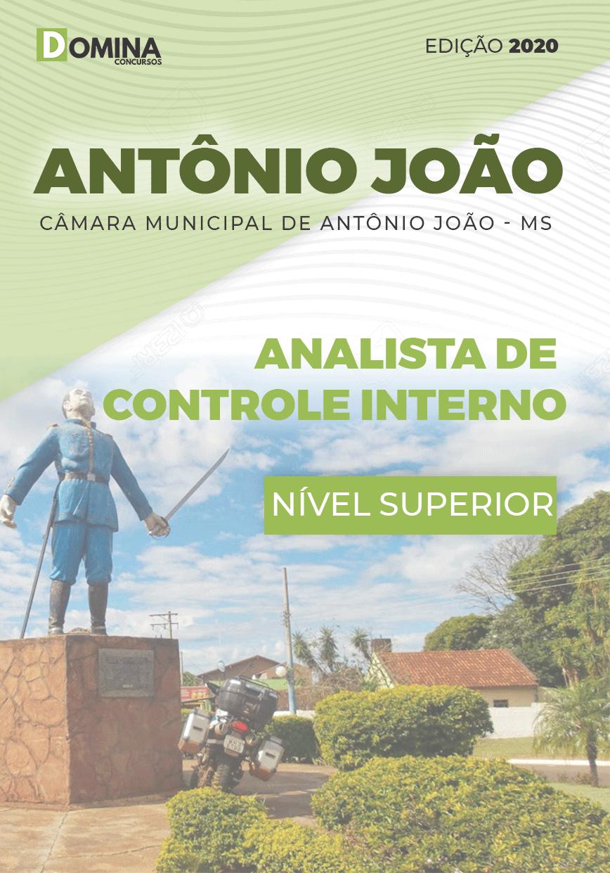 Apostila Câmara Antônio João MS 2020 Analista Controle Interno