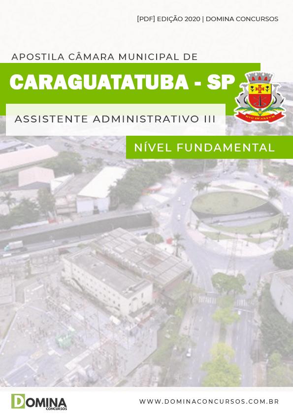 Apostila Câmara Caraguatatuba SP 2020 Ass Administrativo II