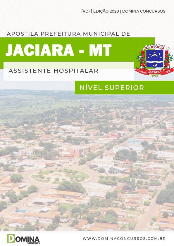 Apostila Concurso Pref Jaciara MT 2020 Assistente Hospitalar