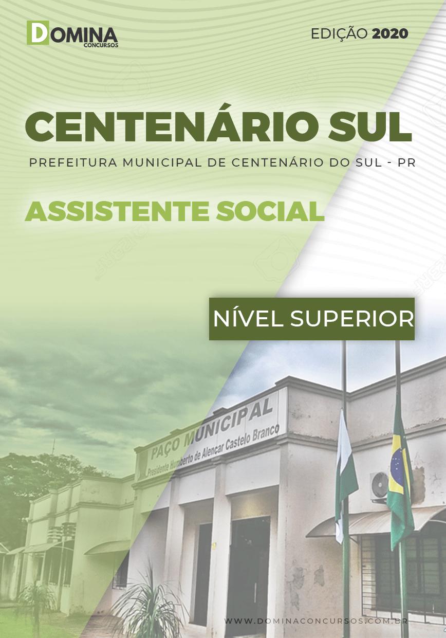 Apostila Pref Centenário Sul PR 2020 Assistente Social