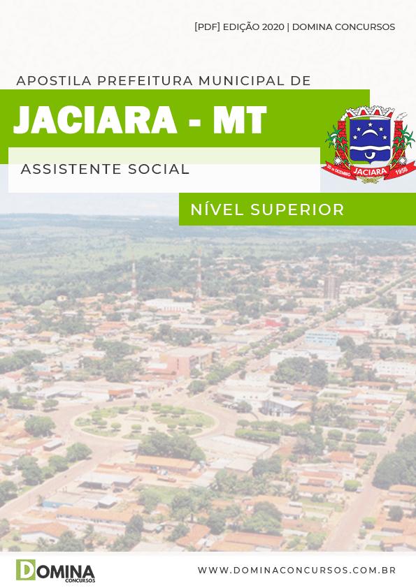 Apostila Concurso Pref Jaciara MT 2020 Assistente Social