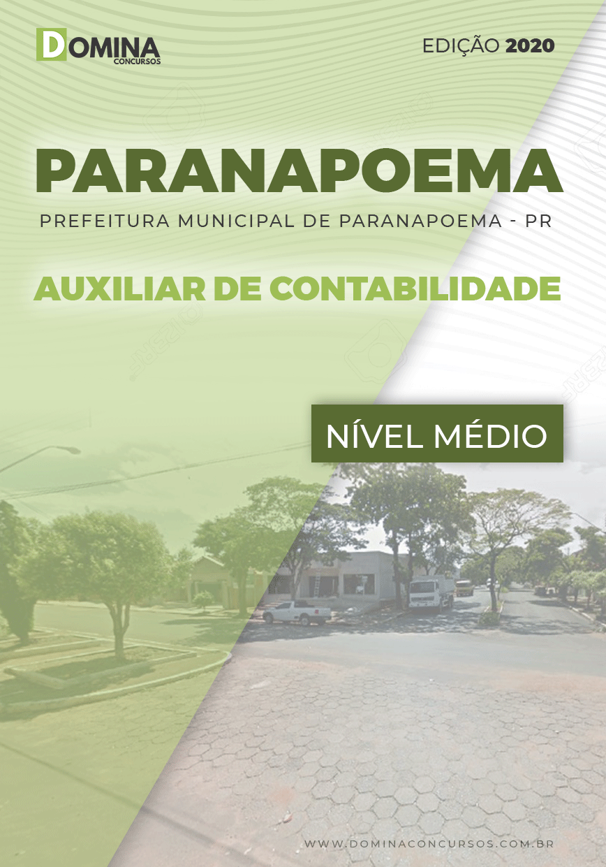 Apostila Pref Paranapoema PR 2020 Auxiliar de Contabilidade