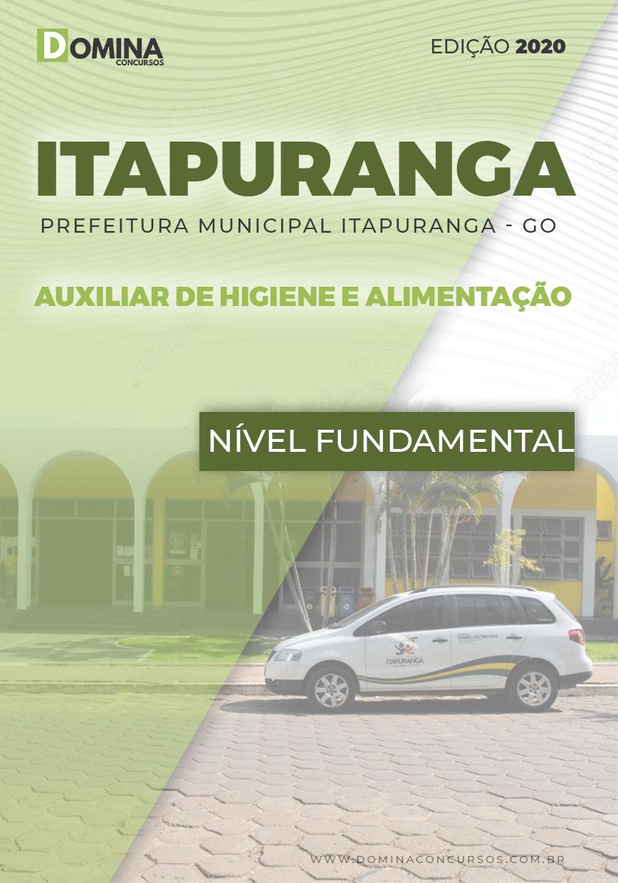 Apostila Pref Itapuranga GO 2020 Auxiliar Higiene Alimentação