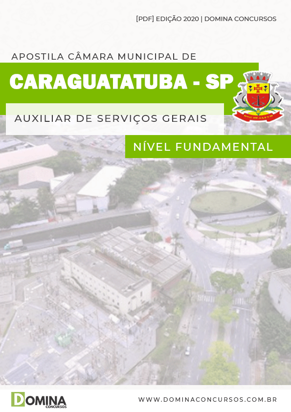 Apostila Câmara Caraguatatuba SP 2020 Auxiliar Serviços Gerais