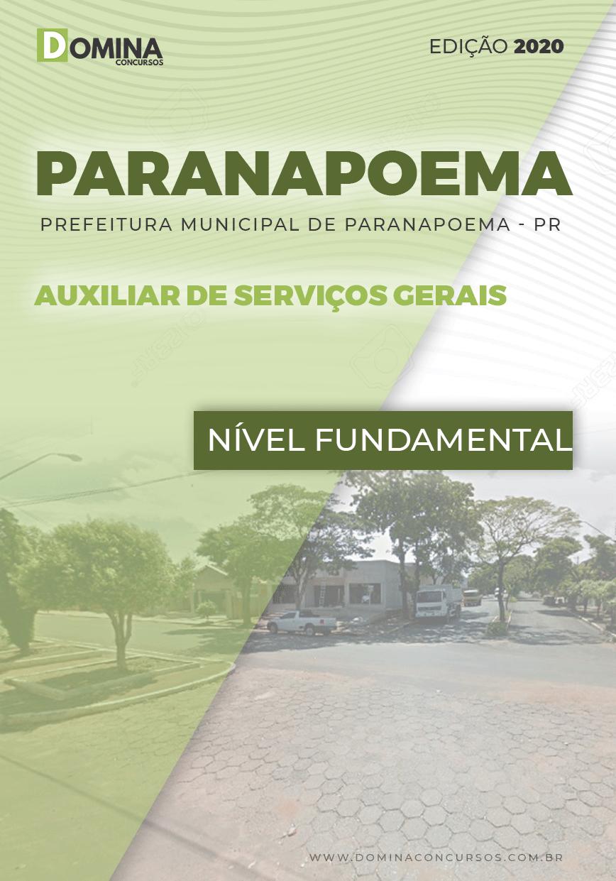 Apostila Pref Paranapoema PR 2020 Auxiliar Serviços Gerais