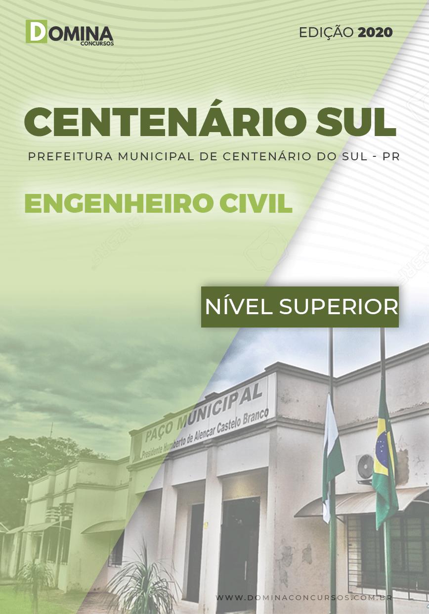 Apostila Pref Centenário Sul PR 2020 Engenheiro Civil