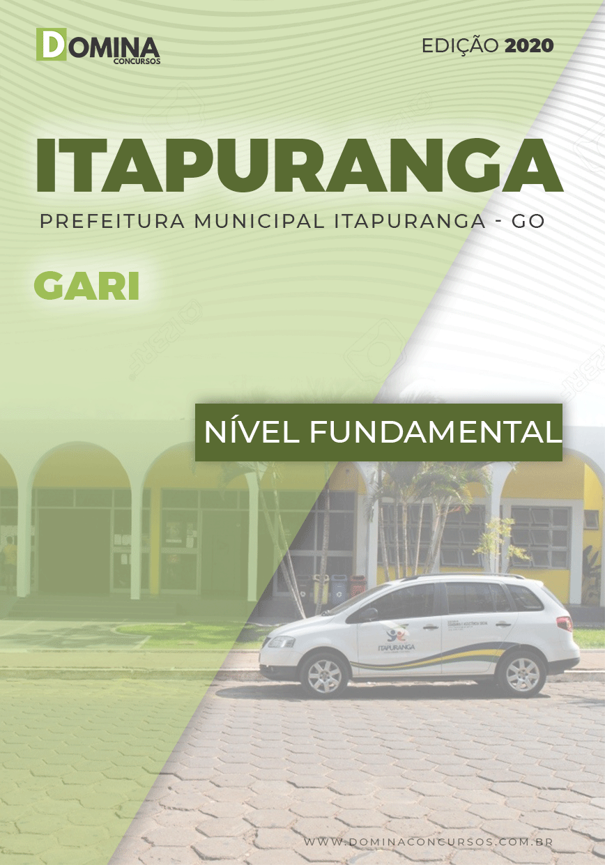 Apostila Concurso Público Pref Itapuranga GO 2020 Gari