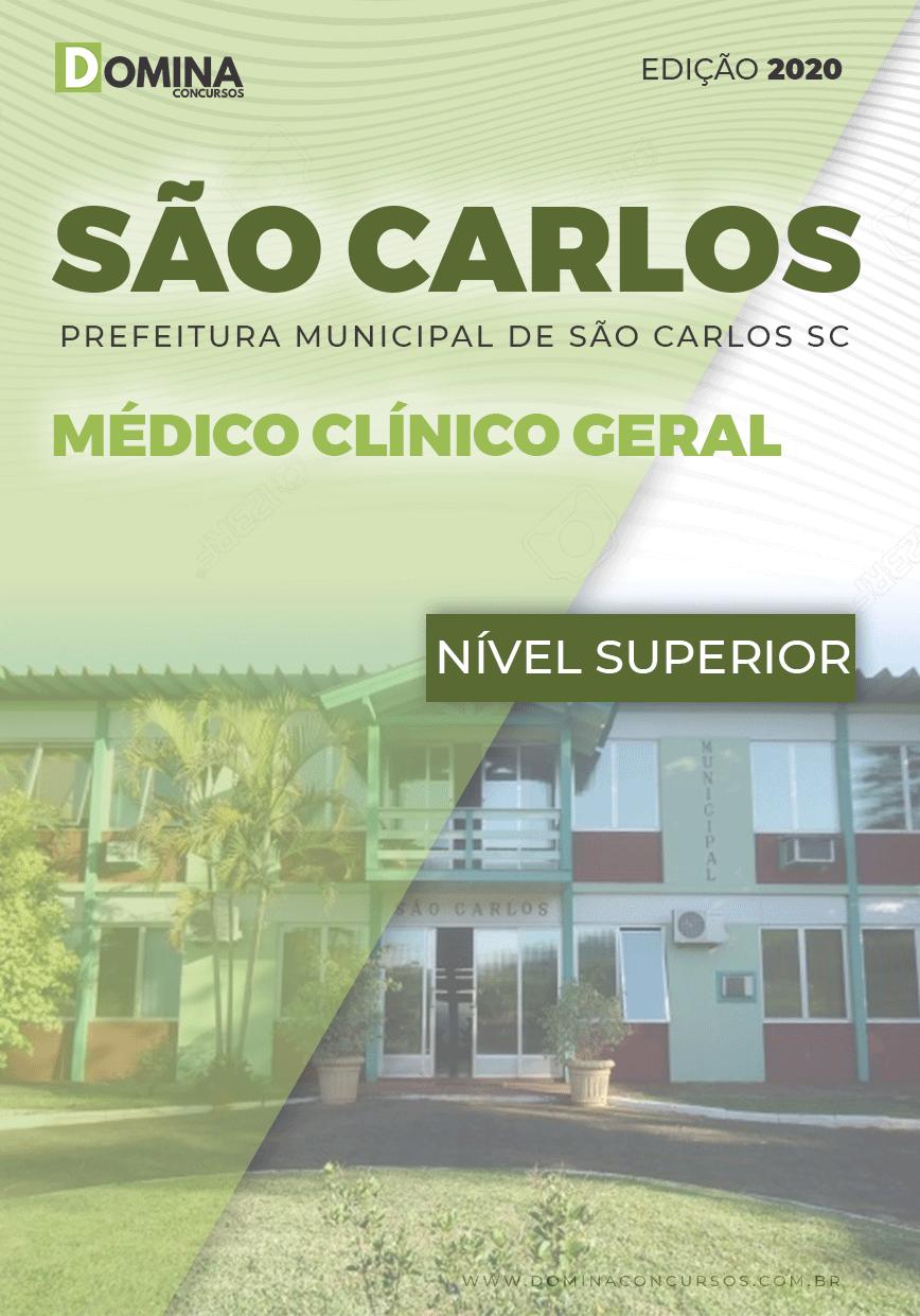 Apostila Pref São Carlos SC 2020 Médico Clínico Geral