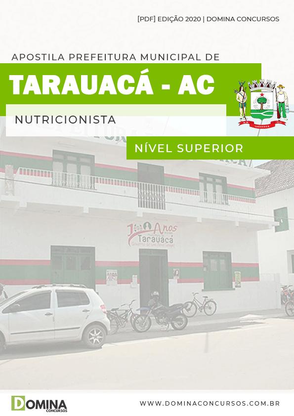 Apostila Concurso Pref Tarauacá AC 2020 Nutricionista