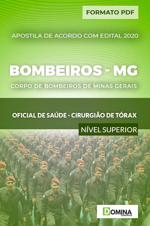 Apostila Bombeiros MG 2020 Oficial Saúde Cirurgião Tórax