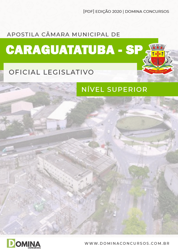 Apostila Câmara Caraguatatuba SP 2020 Oficial Legislativo