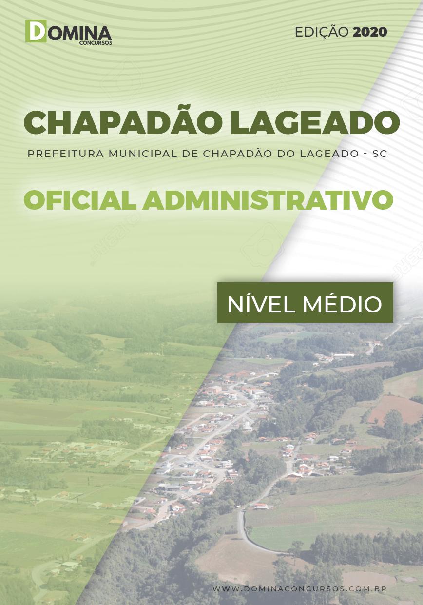 Apostila Chapadão do Lageado SC 2020 Oficial Administrativo