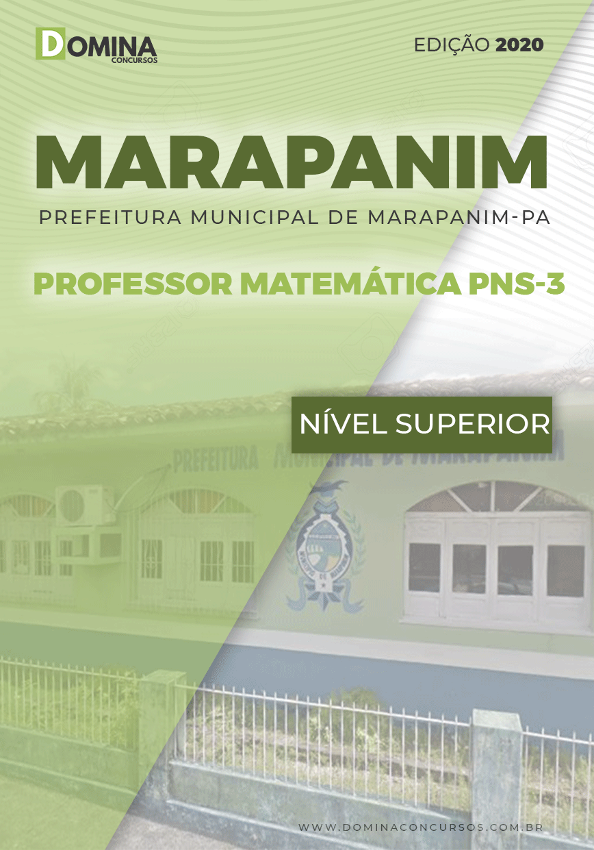 Apostila Pref Marapanim PA 2020 Professor Matemática