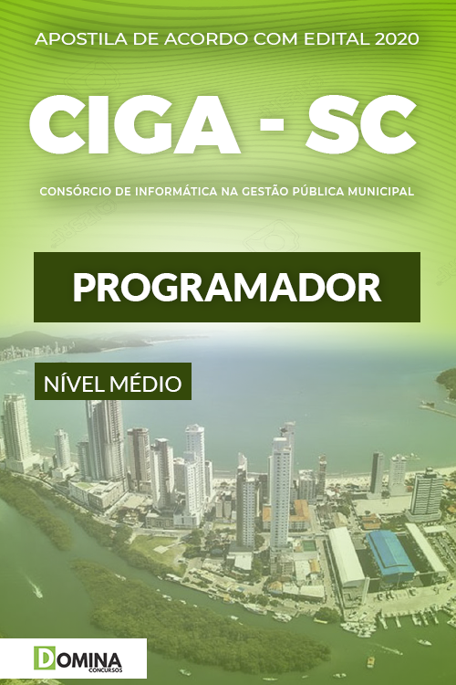 Apostila Concurso Público CIGA SC 2020 Programador