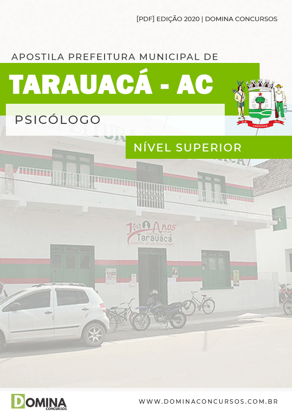 Apostila Concurso Pref Tarauacá AC 2020 Psicólogo