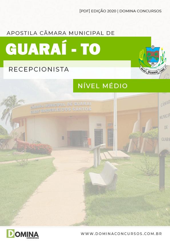 Apostila Concurso Pref Guaraí TO 2020 Recepcionista